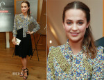 Alicia Vikander In Louis Vuitton - 'Ex Machina' New York Premiere