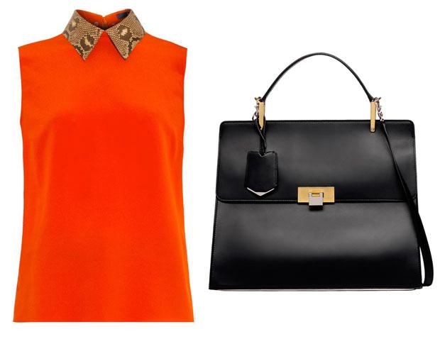 Amal Alamuddin Gucci & Balenciaga Le Dix Cartable M leather tote