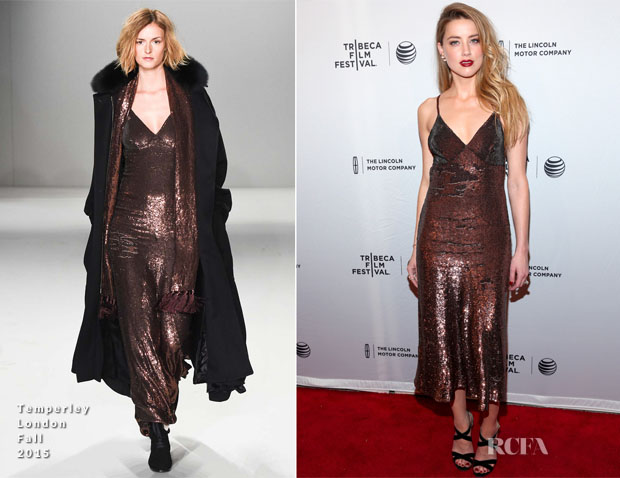 Amber Heard In Temperley London - 'When I Live My Life Over Again' Tribeca Film Festival Premiere