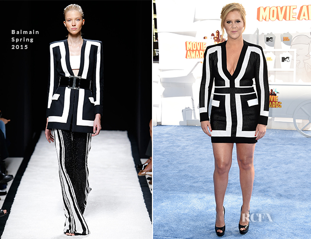 Amy Schumer In Balmain - 2015 MTV Movie Awards