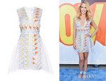Anna Camp's Peter Pilotto 'Phoenica' Embellished Lace Dress