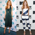 Bella Thorne In Mugler & Emporio Armani - 2015 Shorty Awards & MTV 2015 Upfront Presentation