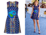 Bella Thorne's Peter Pilotto 'Opus' Embellished Lace Mini Dress