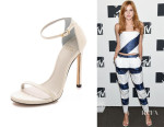 Bella Thorne's Stuart Weitzman 'Nudist' Sandals