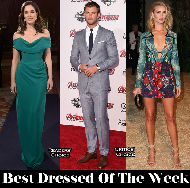 Best Dressed Of The Week - Celia Freijeiro In Vivienne Westwood, Rosie Huntington-Whiteley in Burberry Prorsum & Chris Hemsworth in Salvatore Ferragamo