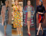 Blake Lively In Antonio Berardi, Jenny Packham, Lindsey Thornburg, Valentino & Balmain -  'The Age of Adaline' New York Promo Tour Day 2