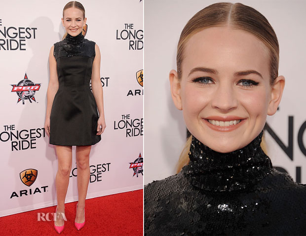 Britt Robertson In Christian Dior - 'The Longest Ride' LA Premiere
