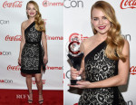 Britt Robertson In J. Mendel - The CinemaCon Big Screen Achievement Awards