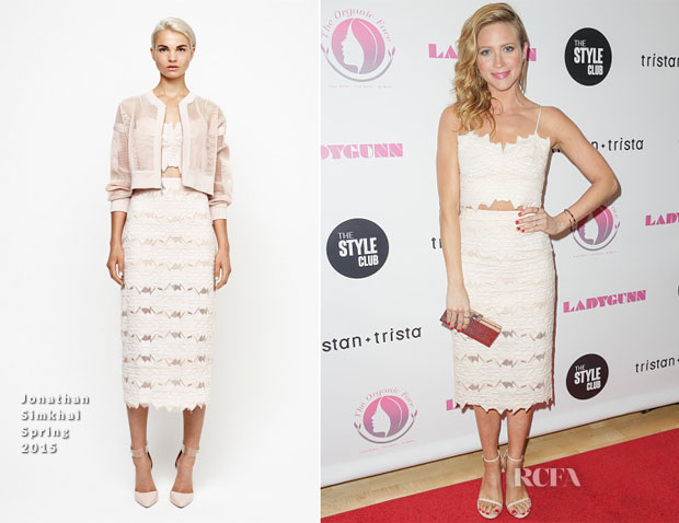 Brittany Snow In Jonathan Simkhai - Ladygunn #11 Launch Party