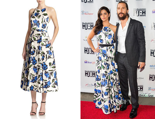 Camila Alves' Milly Printed Halter Dress