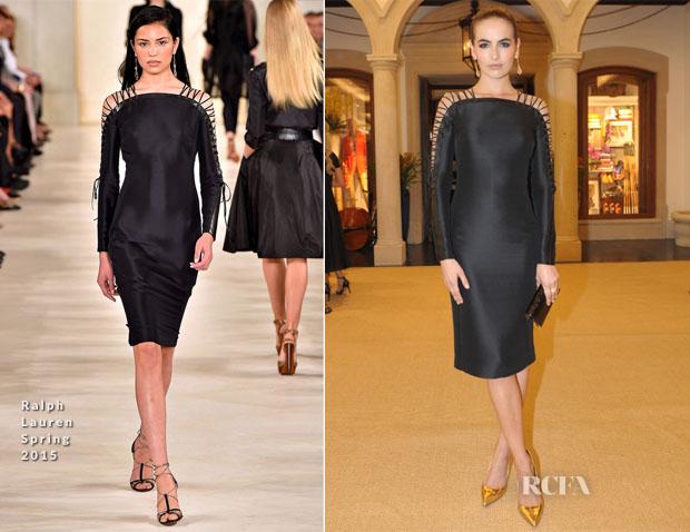 83b83ee089f49 Camilla Belle In Ralph Lauren - Ralph Lauren Sao Paulo Store Opening Event