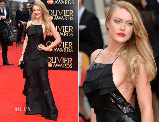 Camilla Kerslake In Emilio Pucci - 2015 Olivier Awards