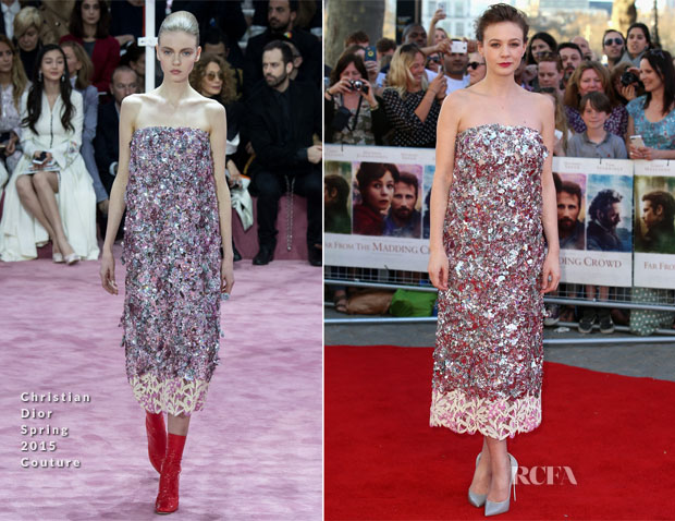 Carey Mulligan In Christian Dior Couture - 'Far From The Madding Crowd' World Premiere