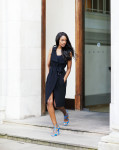 Topshop Sleeveless D-Ring Duster and Jimmy  Choo shoes