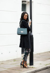 Topshop duster, Elie Saab bag, Topshop boilersuit