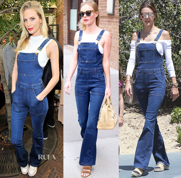 Celebrities Love Frame Denim Le High Flare Denim Overalls