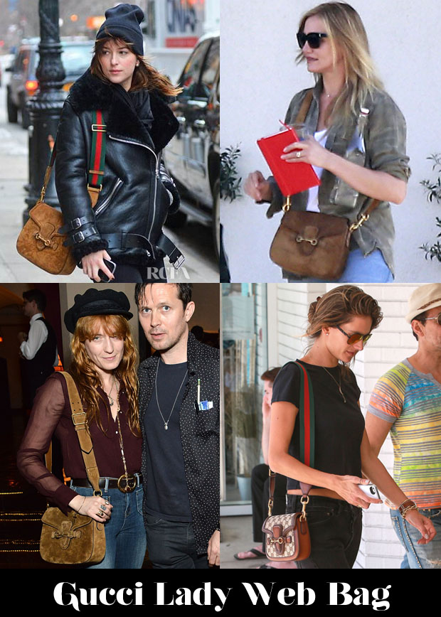 Celebrities Love Gucci Lady Web Bags