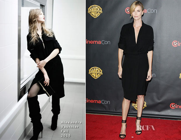 Charlize Theron In Alexandre Vauthier - Warner Bros Presents The Big Picture