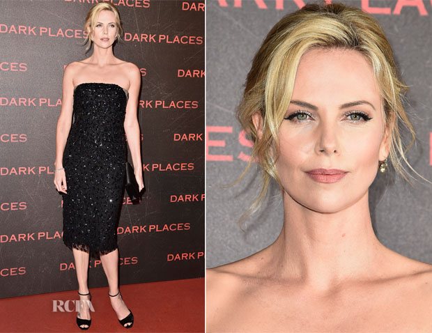 Charlize Theron In Christian Dior Couture - 'Dark Places' Paris Premiere