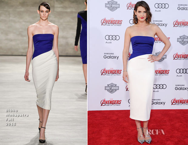 Cobie Smulders In Bibhu Mohapatra - 'Avengers Age Of Ultron' LA Premiere