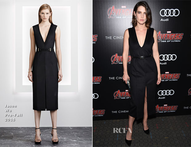 Cobie Smulders In Jason Wu - 'Avengers Age of Ultron' New York Screening