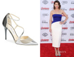 Cobie Smulders' Jimmy Choo 'Mutya' Pointy Toe Pumps
