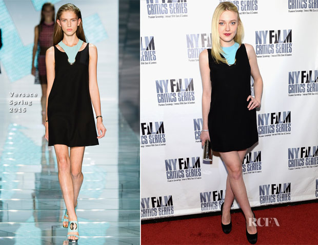 Dakota Fanning In Versace - 'Every Secret Thing' New York Film Critic Series Premiere