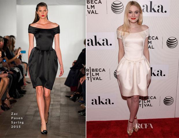 ee0e226ce1 Dakota Fanning In Zac Posen - 'Franny' Tribeca Film Festival Premiere