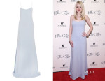 Dakota Fanning's Wes Gordon 'Natalia' Stretch-Crepe Gown