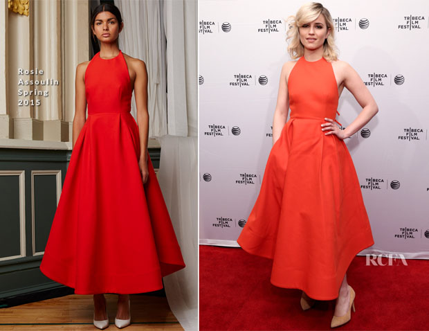 Dianna Agron In Rosie Assoulin - 'Bare' Tribeca Film Festival Premiere