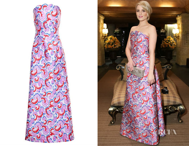 Dianna Agron's Osman Scalloped Bustier Dress