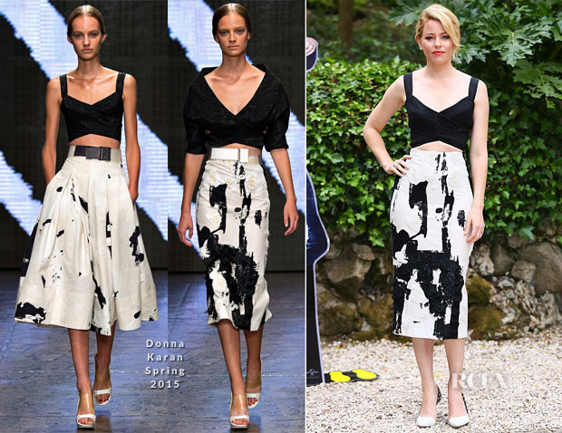 Elizabeth Banks In Donna Karan - 'Pitch Perfect 2' Rome Photocall