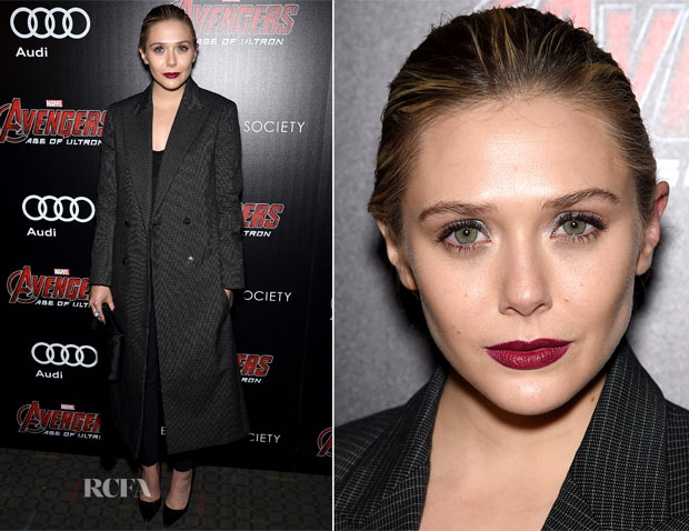 Elizabeth Olsen In The Row -  'Avengers Age of Ultron' New York Screening