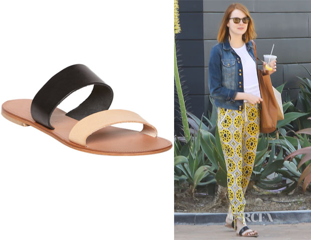 Emma Stone's Joie 'A La Plage Sable' Two Band Sandals