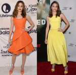 Emmy Rossum In Oscar de la Renta & Preen - Variety's Power Of Women New York & Tribeca Talks