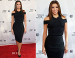 Eva Longoria In Roland Mouret - Tribeca Talks/ESPN Sports Film Festival: ¡Go Sebastien Go! Event