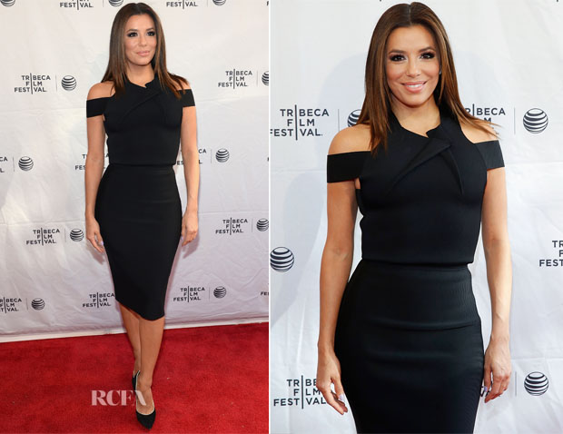 Eva Longoria In Roland Mouret - Tribeca Talks