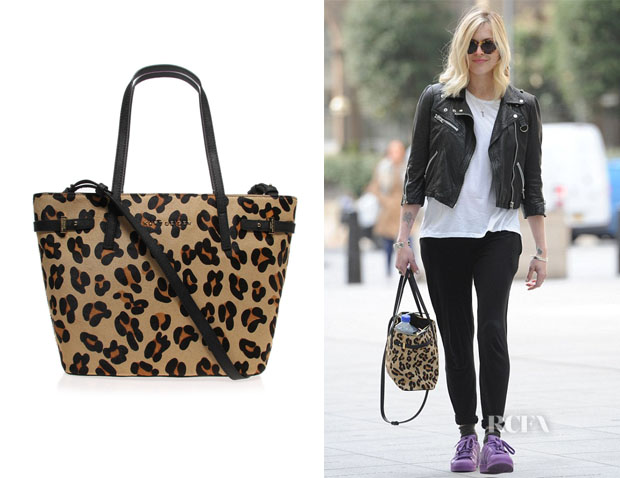 4f810d27ab Fearne Cotton s Kurt Geiger London Leopard Tote - Red Carpet Fashion ...