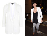 Frankie Bridge's Topshop Long Tuxe Blazer