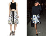 Freida Pinto's Elizabeth and James 'Belle' Printed Zip-Front Skirt