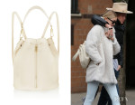 Gigi Hadid's Elizabeth and James 'Cynnie' Sling Textured-Leather Backpack