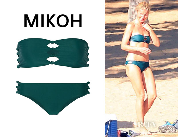Gwyneth Paltrow's Mikoh 'Monaco' Bikini Top And Mikoh 'Hanalei' Bikini Bottoms