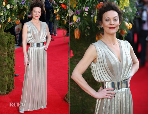 Helen McCrory In Nicholas Oakwell Couture - 'A Little Chaos' London Premiere