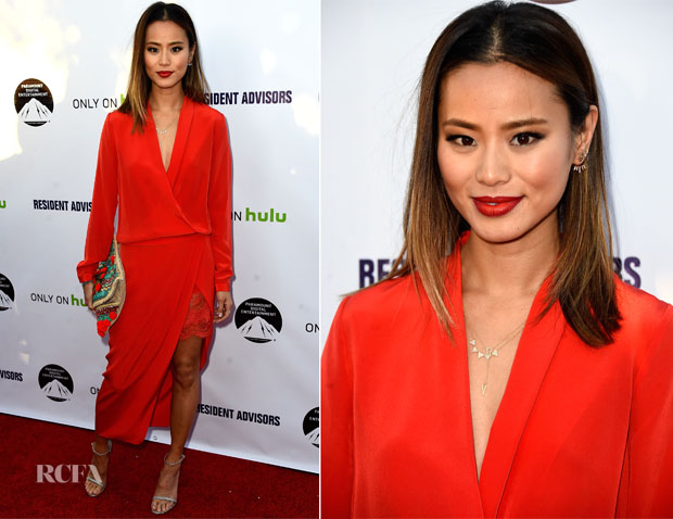 Jamie Chung In Mason by Michelle Mason - 'Resident Advisors' LA Premiere