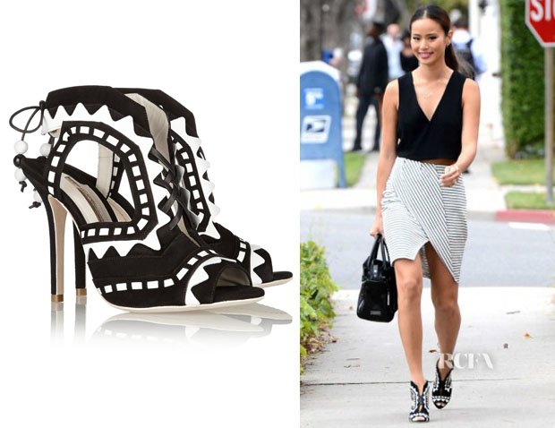 Jamie Chung's Sophia Webster 'Riko' Sandals
