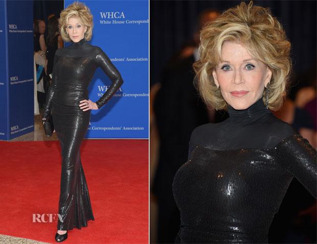 Jane Fonda In Donna Karan - 2015 White House Correspondents' Association Dinner