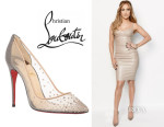 Jennifer Lopez' Christian Louboutin Crystal-Embellished Follies Strass Pumps