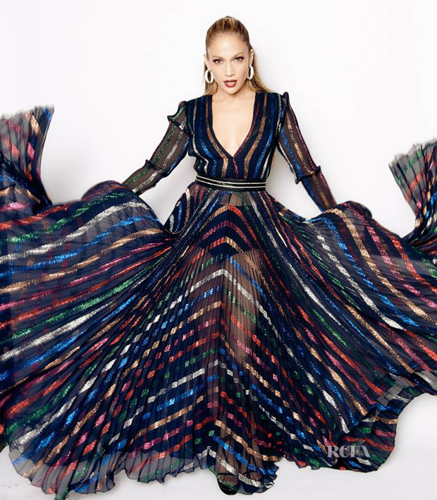 Jennifer Lopez In Blumarine -  'American Idol XIV' Top 5 Revealed Show