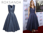 Jessica Chastain's Roksanda Bubble Wrap Jacquard Dress