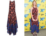 Judy Greer's Stella McCartney 'Laila' Paisley Print Silk Maxi Dress